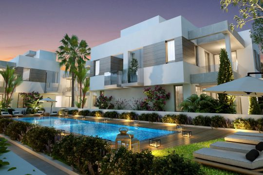 7 (3 bedroom) villas with the roof gardens and basements