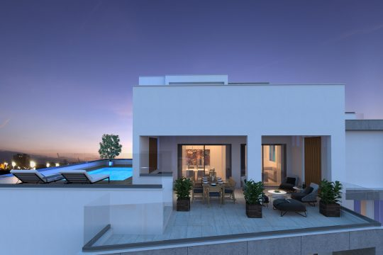 3 bedroom penthouse +Roof Garden +Private Pool in City Center, Limassol