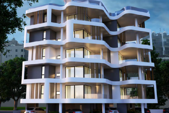 Luxurious spacious 3 bedroom apartment, AREA | Larnaca City Center with sea view