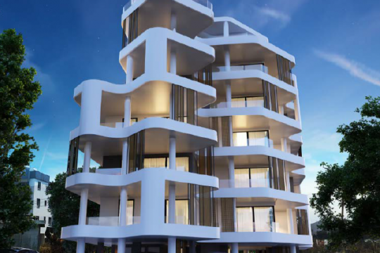 Luxurious spacious 2 bedroom  apartment, AREA | Larnaca City Center with sea view