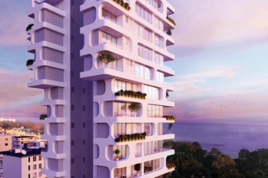 Luxury 1 bedroom apartment overlooking the azure blue waters of the Mediterranean