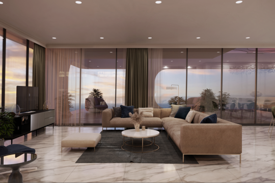 Luxury Penthouse all overlooking the azure blue waters of the Mediterranean
