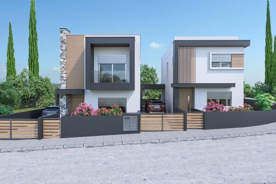 Modern house in Ypsonas with spacious interiors and large plot