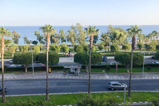 3 bedroom apartment next to Molos with stunning Sea View