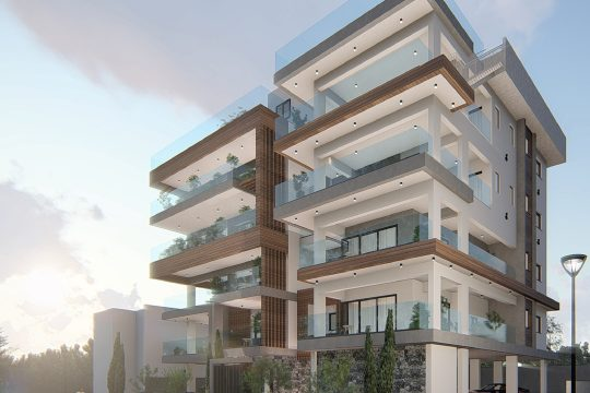 Modern 3 bedroom apartment with sea view, Agios Athanasios
