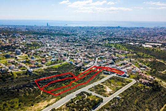 Four adjacent residential fields in Agia Fylaxis, Limassol