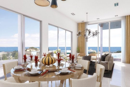 FOR SALE LUXURY VILLA AT AYIOS TYCHONAS AREA 100M FROM THE BEACH