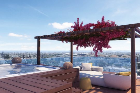 2 Bedroom Luxury Apartment with Roof Garden at Panthea area in Limassol