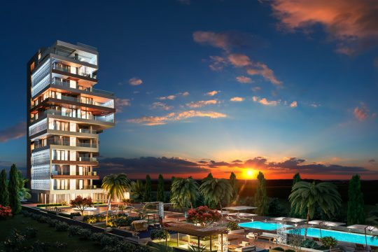 3 bedroom apartment with unobstructed views of the Mediterranean Sea and the surrounding city