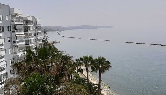 3 bedroom apartment with stunning sea view for rent in Germasogeia tourist area